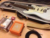 Burns 'Cobra' electric guitar with extras
