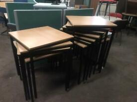 600mm x 600mm Square Beech Table/ Desk