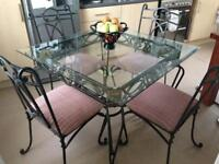 Beautiful Glass Dining Table and 4 Chairs