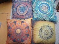 Nearly New Mandela Print Cushions x4