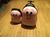 Matching Pookie the Pig Luggage Set