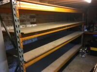 One bay of heavy duty 'pallet' racking
