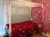 Little princess single four poster with mattress