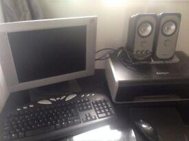 monitor& printer + accessories