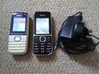 Nokia C2-01 Vodafone & Nokia 1650 mobile phones