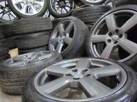 18inch gunmetal GENUINE RS6 S LINE alloys wheels rotor audi a4 a6 a3 5x112 golf vw caddy t4 TT
