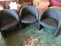 set 3 lounge conservatory chairs very smart very clean