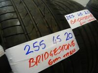 MATCHING SET 255 45 20 BRIDGESTONS 5-6mm TREAD £100 PAIR £180 SET SUPP & FITD loads more 20s av 7dys