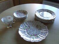 22 ct gold plated tea set.