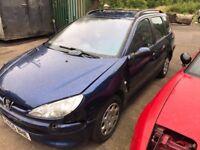 2005 Peugeot 206 SW S Estate Petrol 1.4L Blue BREAKING FOR SPARES