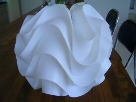 White moulded contemporary lampshade.