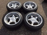 Shaper deep dish alloy wheels, 5x100, Vw Golf MK3 Vr6 , MK4 etc with tyres