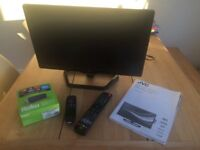JVC 22inch LED TV with ROKU STREAMING STICK