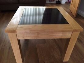 Lamp Table with Black Granite Inserts