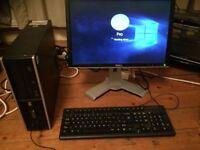 HP8000 PC Dual core 160 GB HDD 4 GB Ram incl 20 inch dell Flat screen