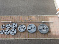 Marcy 140kg Olympic Tri-Grip Weight Set With 7ft Bar