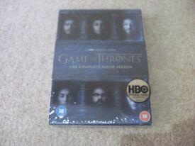 Game of Thrones Season 6 on DVD BRAND NEW