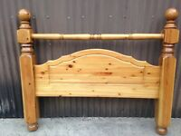 Heavy king size pine headboard.