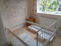 IKEA LEIRVIK double bed (white)