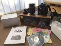 Nikon DSLR Camera, lens and box