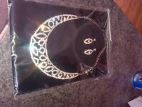 earings and necklace set from Love forever post inc