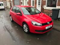 2010 VW GOLF 1.2TSI 5DR IN RED 59k MILES MK6