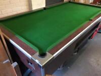 Slate bed pool table