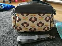 Rosebud changing nappy bag