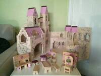 Melissa and Doug Folding Princess Castle with accessories