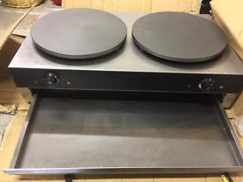 Commercial Double Crepe Pancake Griddle Machine