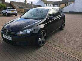 2011 2.0 tdi bluemotion tech golf, 3 door in metallic black.