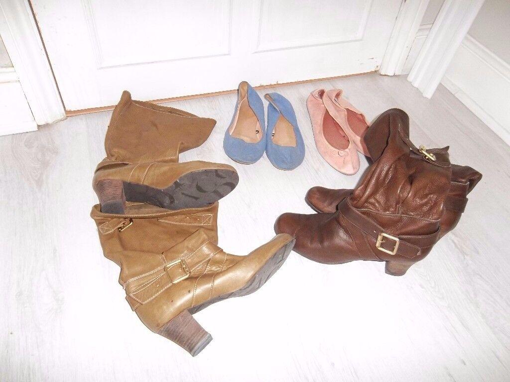 Size 7 Woman's Shoe bundle - 4 pairs