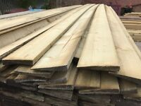 "New 4"" Treated Featheredge Fence Timber/Wood Cladding in 3.3mtr lengths"