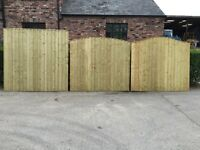 High Quality Heavy Duty Tanalised Arch Top Wooden Fence Panels 🌲