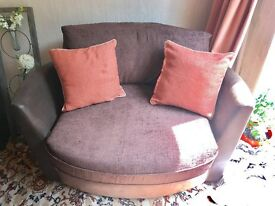 Swivel Snuggle Chair SCS - Brown LIKE NEW