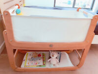 Snuzpod 3 in 1 crib in excellent condition with the most complete set including a storage pocket