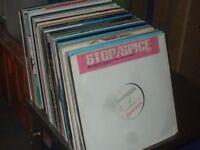 """125 x 12"""" 90's Pop Remixes / House / Dance Vinyl Records Collection."""