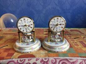 Table top pair of clocks