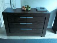 Modern walnut sideboard table /drinks cabinet £45ono