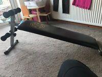 Adjustable abdominal training bench