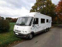Hymer B757 5 berth motorhome with rear fixed bed for sale