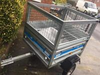 Maypole tipping trailer + mesh sides/cover