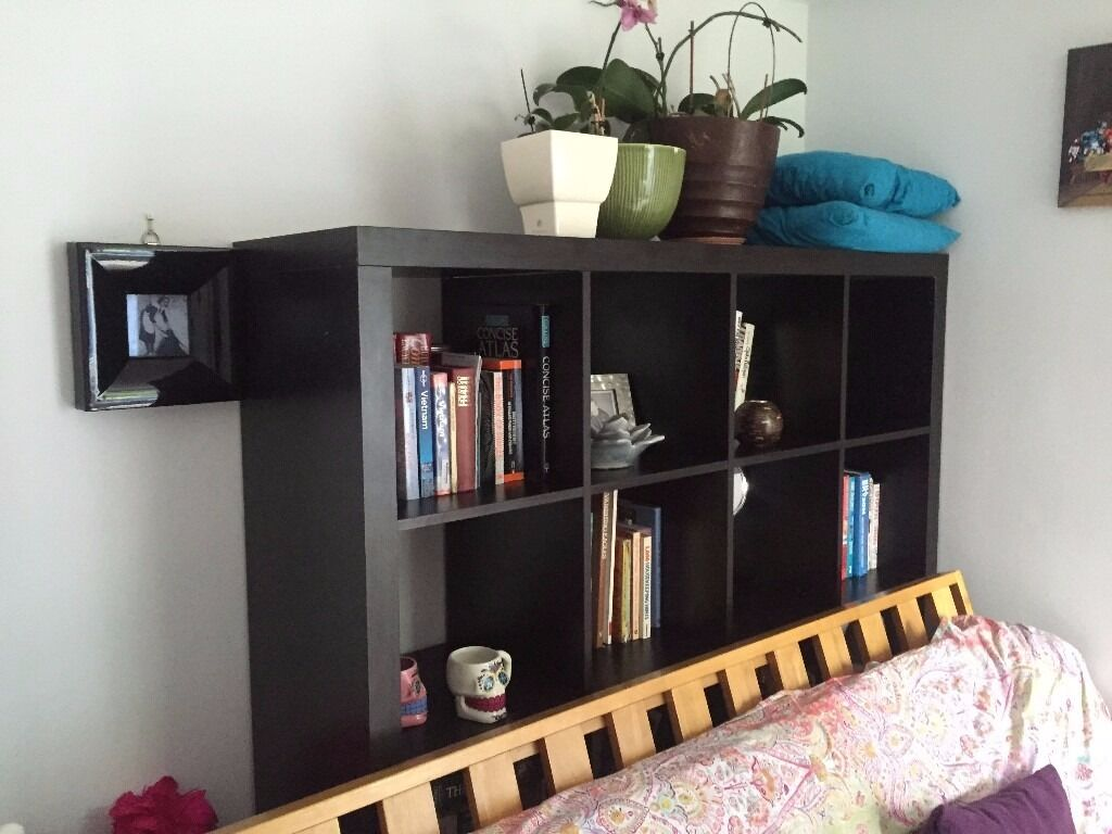 Black Cube Ikea Shelving Unit - Kallax was £150 new | in ...