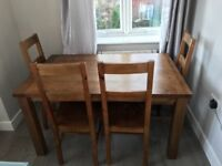 Dining Room Table & 4 Chairs For Sale