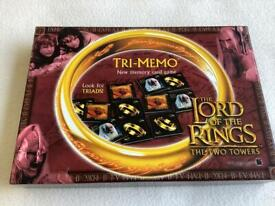 LORD OF THE RINGS GAME - TRI MEMO - AS NEW