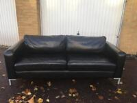 Black leather sofa free London delivery