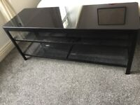 Black Glass Tv Table - In great condition