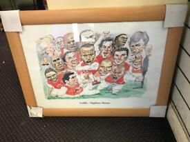 Light brown picture frame Highbury Hero's roughly 36 by 24 size