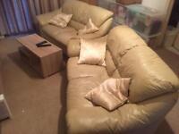 Sofas - pair of white twin sofas