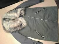 River island fur collar
